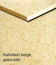 Kalkstein beige, gebürstet