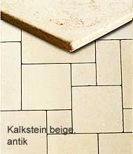 Kalkstein beige, antik