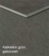 Kalkstein grün, gebürstet
