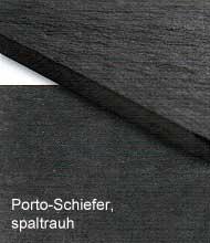 Porto-Schiefer, spaltrauh