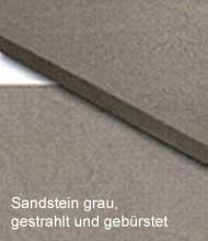 Sandstein grau, gestrahlt und gebürstet